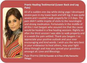 Testimonial Puja Sharma Lower Back Pain_healer Sargam
