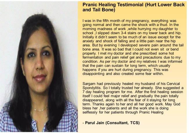 Pranic Healing Testimonial Parul Jain
