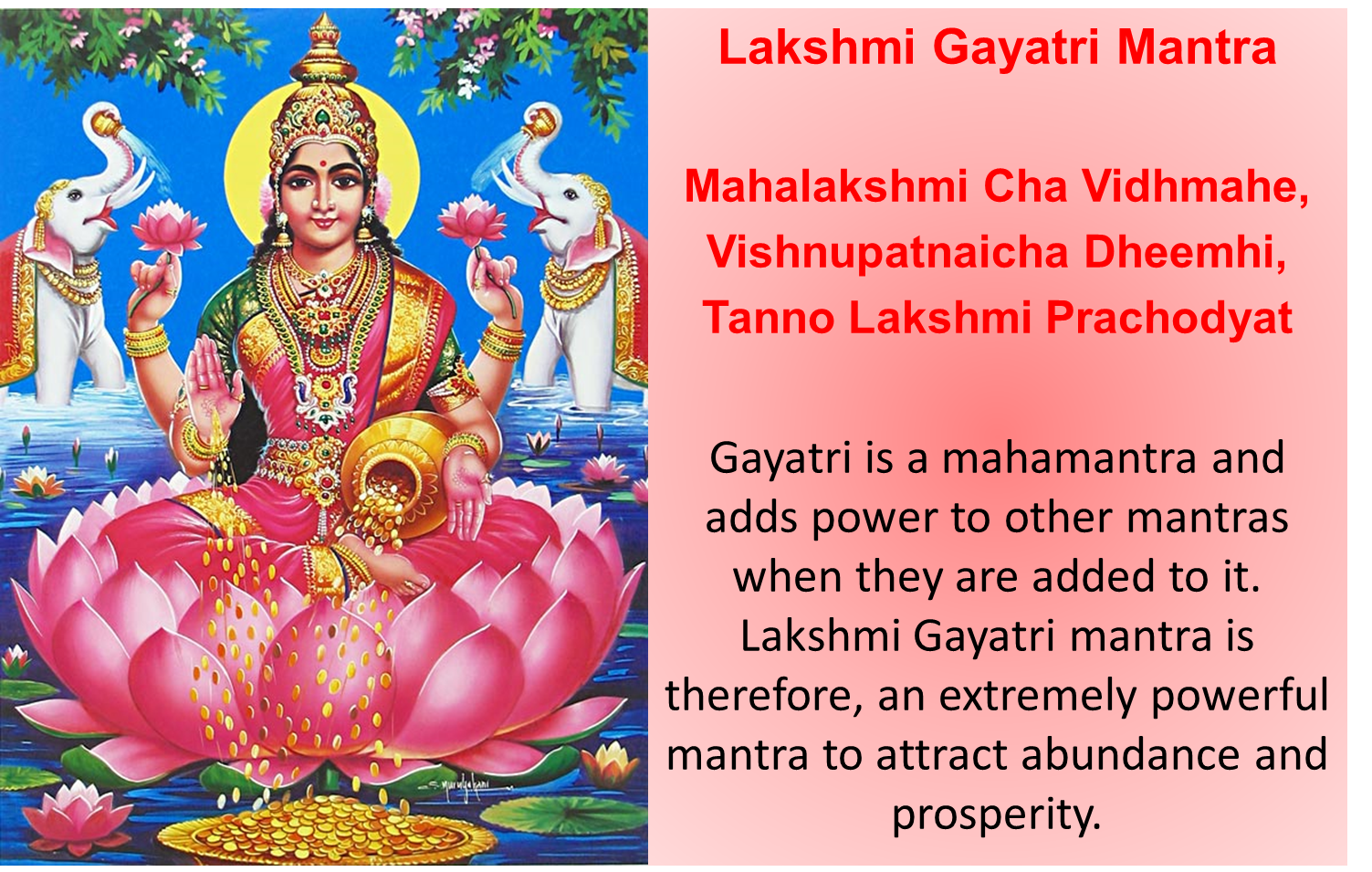 Prayer To Lakshmi – Quotes of the Day