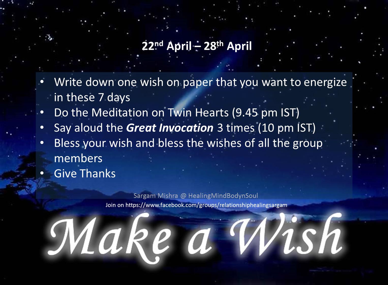 Make a Wish _7 Days SargamMishra_HealingMindBodynSoul