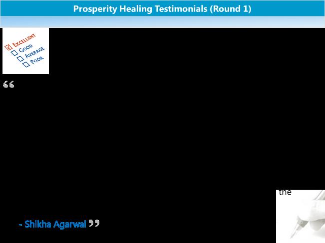 Prosperity Healing Testimonials 2