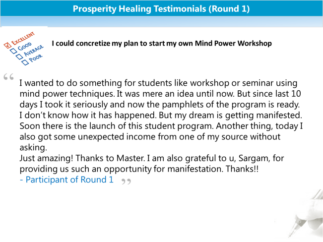 Prosperity Healing Testimonials 3