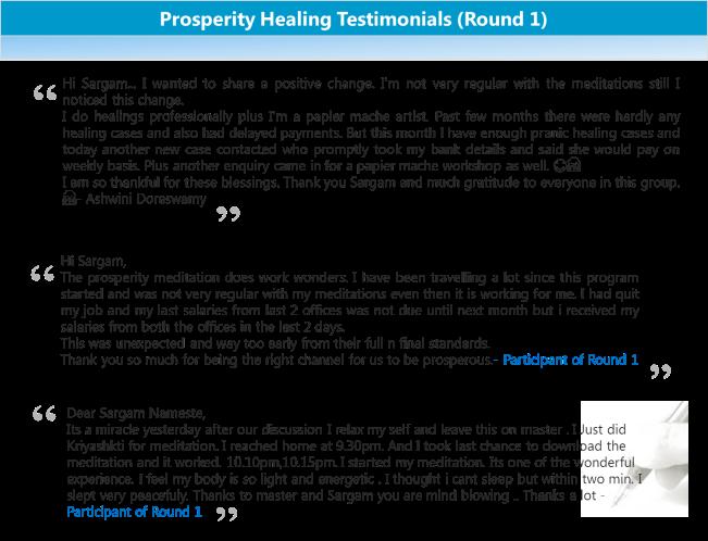 Prosperity Healing Testimonials