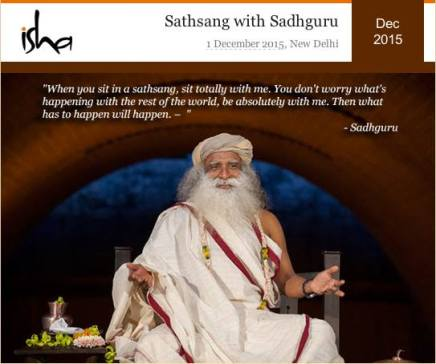 Sathsang with Sadhuru 1st dec