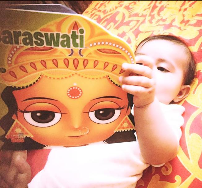 Samaira with her book