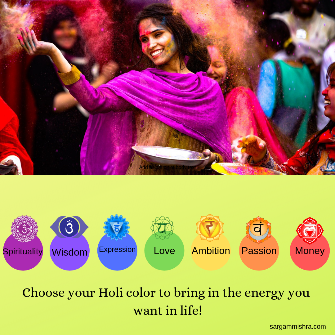 Let the colors of Holi bring more color to life